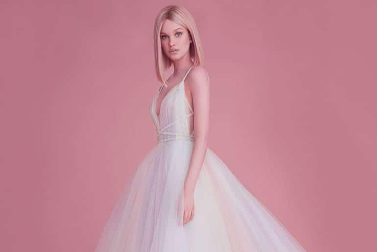 idea vestido de novia rosa