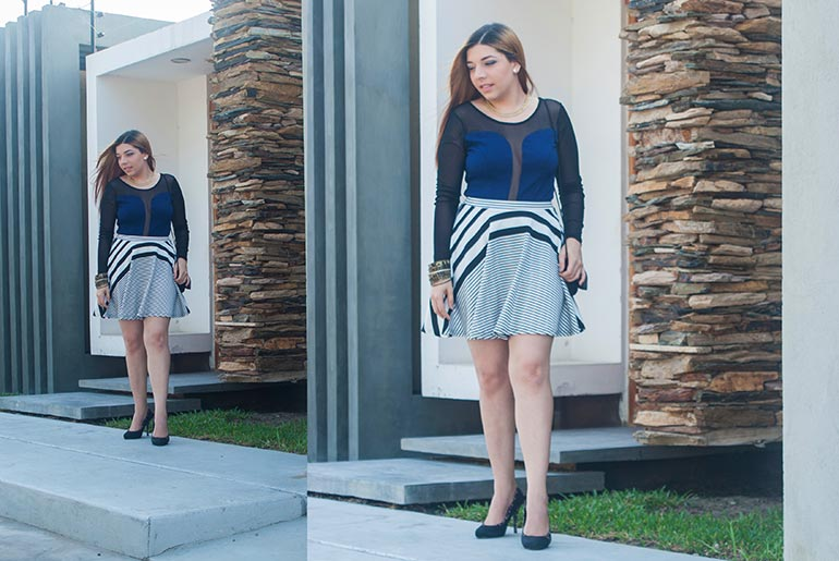 Stripes Print Outfit