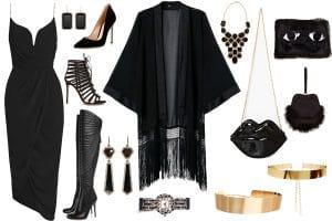 All Black Outfit para un evento de moda