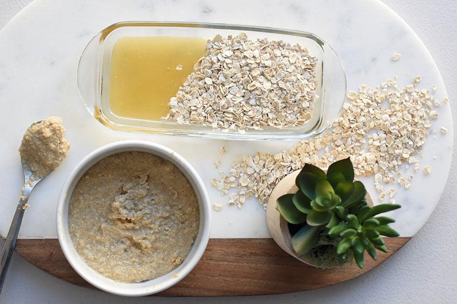 Exfoliante corporal con miel y avena