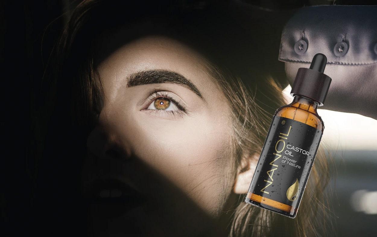 aceite de ricino para las cejas
